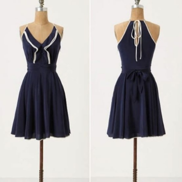 528882a291707 Anthropologie Dresses & Skirts - Girls from Savoy (Anthro) Gull Wing Dress  in Navy
